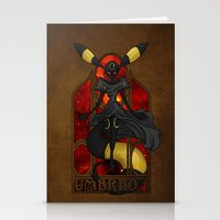"umbreon Stationery Cards featuring Rule 63: Umbreon by Barbora ""Mad Alice"" Urbankova"
