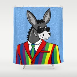 Donkey in a suit Shower Curtain