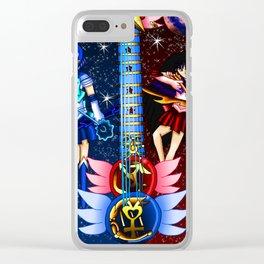 Fusion Sailor Moon Guitar #12 - Sailor Mercury & Sailor Mars Clear iPhone Case