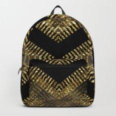 Black Gold   Tribal Geometric Backpacks