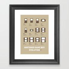 My Evolution Nintendo game boy minimal poster Framed Art Print