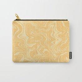 Yellow Liquid Marble Carry-All Pouch