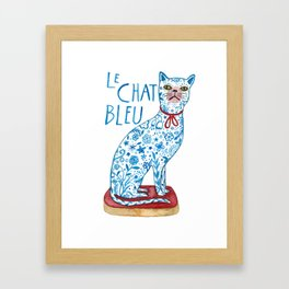 Le Chat Bleu Framed Art Print