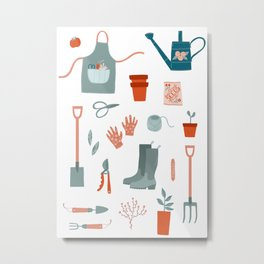 Gardening Things Metal Print