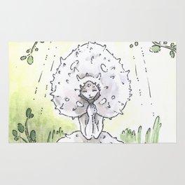 Empire of Mushrooms: Lycoperdon perlatum Rug