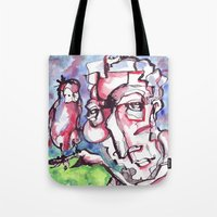 birdman Tote Bags featuring Birdman by 5wingerone
