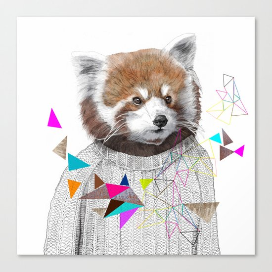 RED PANDA by Jamie Mitchell and Kris Tate Canvas Print