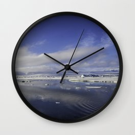 Jokulsarlon Lagoon Beach 11 Wall Clock