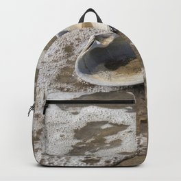 Clam shell against the tide Backpack