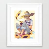 viria Framed Art Prints featuring kenma by viria