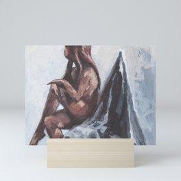 Sitting I Mini Art Print