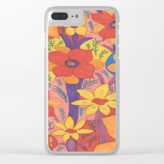 Sunshine and Wildflowers Clear iPhone Case