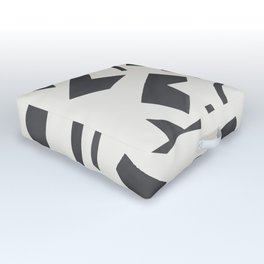Cut Out - Black Outdoor Floor Cushion
