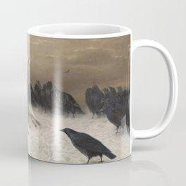 Anguish - August Friedrich Albrecht Schenck - Ravens and Sheep Coffee Mug