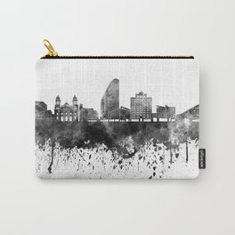 San Jose skyline in black watercolor Carry-All Pouch