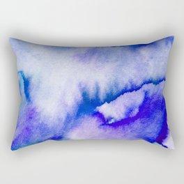 Watercolor texture - electric blue Rectangular Pillow