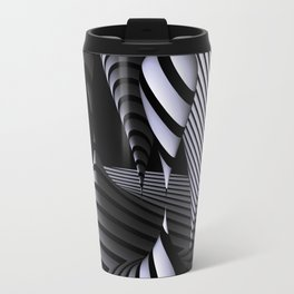 mirrored globs in OpArt-design Travel Mug