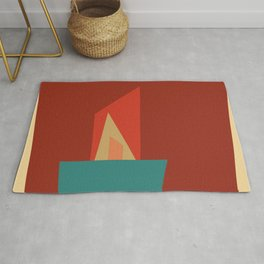 Little Boxes 2, Geometric Shapes Rug