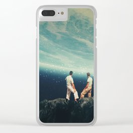 The Earth was crying and We were there Clear iPhone Case