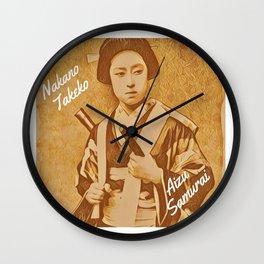 Nakano Takeko- Aizu Samurai Wall Clock