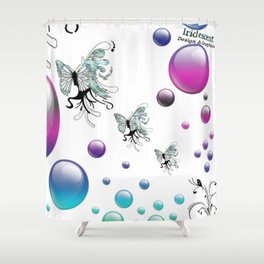 Q The Bokeh Fly Shower Curtain