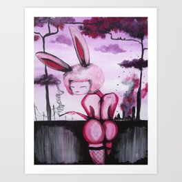 Bunny Bond Bone Art Print
