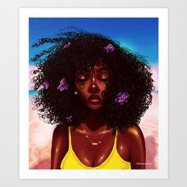 Purple X Melanin Art Print