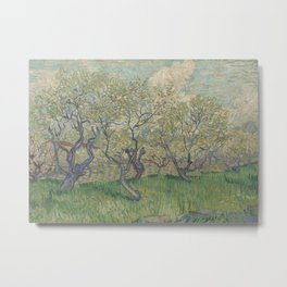 Orchard in Blossom Metal Print