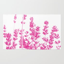 Lavender in Pink #2 #decor #art #society6 Rug