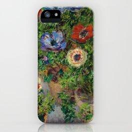 """Claude Monet """"Anemones"""" iPhone Case"""