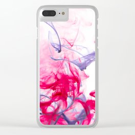 Blue Threads Clear iPhone Case