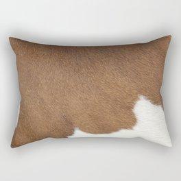 Brown Cowhide, Cow Skin Pattern, Farmhouse Decor Rectangular Pillow