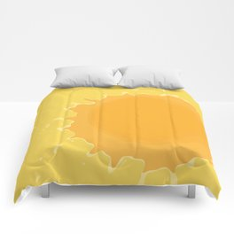 Splat on Yellow - by Friztin Comforters