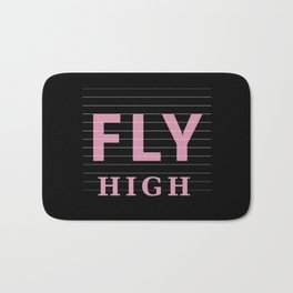 Fly High Motivational Bath Mat