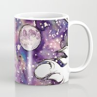 the moon Mugs featuring moon by Beth Jorgensen