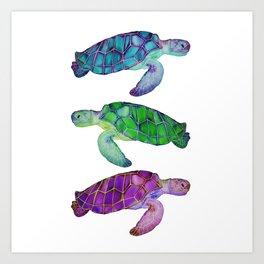 Island Sea Turtles Art Print