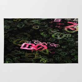 Pink Roses in Anzures 5  Letters 3 Rug