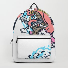 Rock Octopusfor animated characters comics and pop culture lovers Backpack