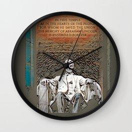 Lincoln Memorial, Washington, DC, USA Wall Clock