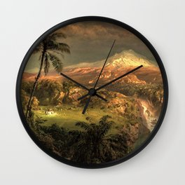 Passing Shower in the Tropics by Frederic Edwin Church Wall Clock