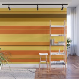 minimalistic horizontal stripes pattern ee Wall Mural