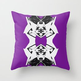 Dark Purple Scrunch Throw Pillow