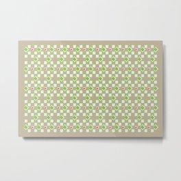 Woven Pattern 3.0 Metal Print