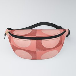New York Moon Minimalism Living Coral Jester Fanny Pack