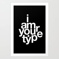helvetica Art Prints featuring HELVETICA! by THE USUAL DESIGNERS