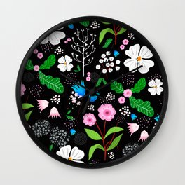 floral collection Wall Clock