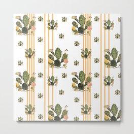 Cactus Stripe Metal Print