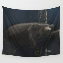 Sleeping Black Bear Wall Tapestry