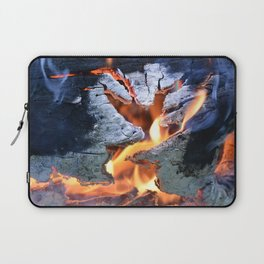 black white and flame Laptop Sleeve