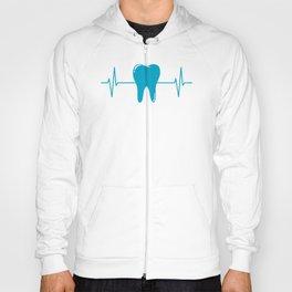 Tooth Dentist Dental Hygienist Heartbeat Gift Hoody